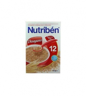 Nutriben papillas desayuno copos de trigo 750 gr