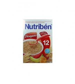 Nutriben papillas desayuno copos de trigo y frutas 750 gr