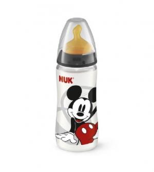 Biberon 0 First Choice Polipropileno Latex - Nuk First Choice (300 Ml Disney Mickey 0-6 M )