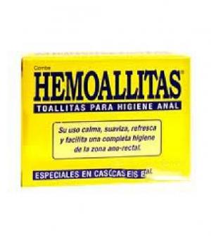 Hemoallitas Toallitas Higiene Anal, 10Ud