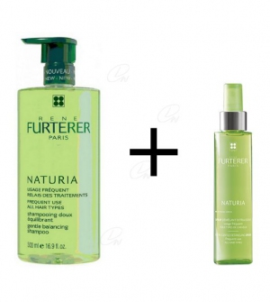 Rene Furterer Naturia Champú 500 Ml + Spray Desenredante Sin Aclarado 150 ml De Regalo
