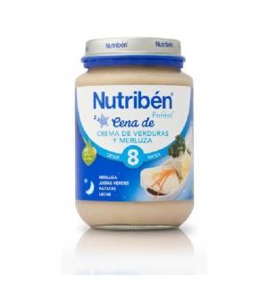 Nutriben potitos cena 200 gr crema de verduras con merluza