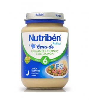 Nutriben potitos cena 200 gr guisantes tiernos con jamon