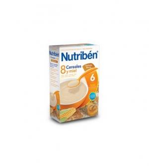 Nutriben papillas con gluten 8 cereales, miel y galletas maria 600 gr