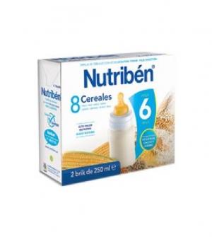 Nutriben papillas liquidas, 8 cereales 500 ml