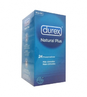 Durex Preservativos Natural Plus, 24 Ud