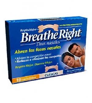 Breathe Ringht Tiras Nasales Grandes, 10Ud