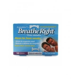 Breathe Right Grande transparente 10 uds. Tira Nasal