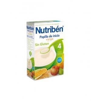 Nutriben papillas sin gluten, inicio a la fruta 300 gr