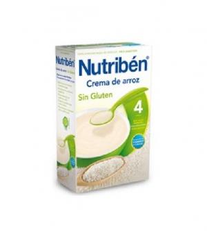 Nutriben papillas sin gluten, crema de arroz 300 gr