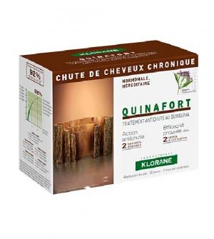 Klorane Quinafort Anticaída Hombre, 12 amp/1 mes de tratamiento
