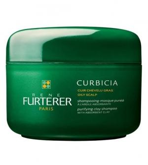 Rene Furterer Curbicia Champú-Mascarilla Pureza Cabello Graso, 200ml