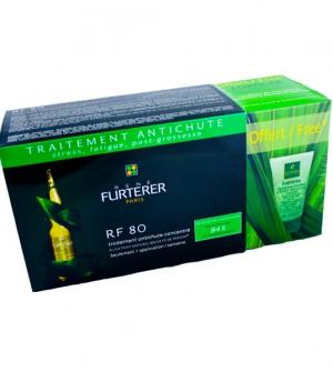 Rene Furterer RF80 Tratamiento Concentrado Anticaida, 12 amp x5ml