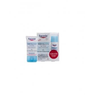 EUCERIN Aquaporin Active Hidratante Rica Intensiva Piel Seca, 40ml + contorno de ojos gratis