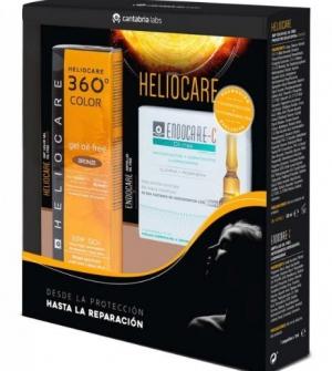 Heliocare 360º Gel Oil-free Bronze Spf 50 + 7 Ampollas Endocare
